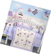 SoHo Lavender Flower Garden Baby Crib Nursery Bedding Set 13