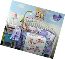 SoHo Lavender Owls Party Baby Crib Nursery Bedding Set 14