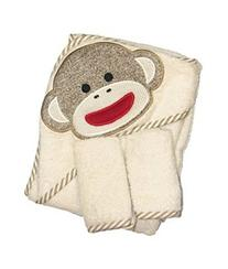 Sock Monkey Hooded Towel and 2 Washcloth Set by Baby
