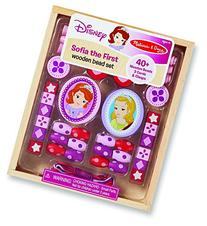 Melissa & Doug Disney Sofia the First Wooden Bead Set With