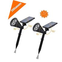 Solar LED Spotlight, APOLLED 2-in-1 Waterproof 4 LED Outdoor