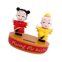 Solar Powered Dancing Kung Fu Kid Character Display