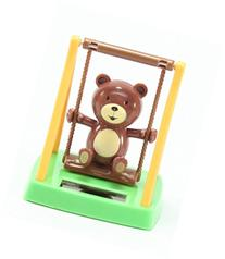 Solar Toy Swinging Bear Home Decor Holiday Gift