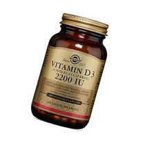Solgar, Vitamin D3  2200 IU, 100 Vegetable Capsules