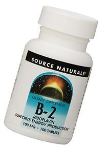 Source Naturals - B-2, 100 mg, 100 tablets