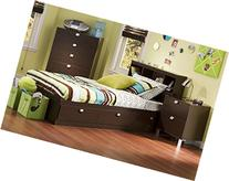 South Shore Cakao Kids 3-Piece Bedroom Set with Bookcase