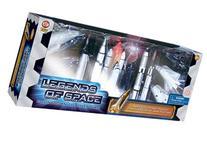 Space Exploration Toy Rocket Set: 10 Pc Rocket Replica Toy