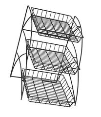 Space Saving Black Wire Rack With 3 Display Shelves,