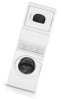 Speed Queen ATEE9AGP Electric Stacked Washer/Dryer with 9