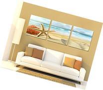 Spirit Up Art Huge Home Decorations-Starfish on Beach Canvas