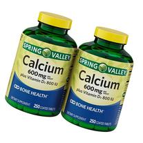 Spring Valley - Calcium 600 mg with Vitamin D3, Twin Pack,