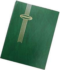 "Stamp Album Stockbook by Supersafe 9"" x 12"" B 4/16 Green"