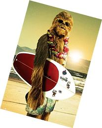 Star Wars - Chewbacca with Surfboard 24x36 Poster