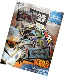 Stars Wars Classic Character Grid Twin Comforter - Super Soft Kids Reversible Bedding features Star Wars characters - Fade Resistant Polyester