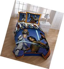 Star Wars Rebels Twin Comforter Set - Orange/Blue