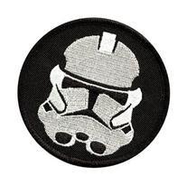 Star Wars - Round Black & White Stormtrooper Emblem Logo -