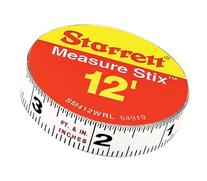 Starrett Measure Stix SM412WRL Steel White Measure Tape with