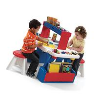 Step2 Toddler Activity Learning Table with Two Stools Set -
