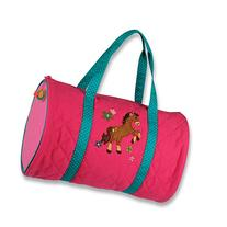 Stephen Joseph Quilted Duffle, Girl Horse