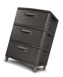 Sterilite 01986P01 3 Weave Drawer Unit, Espresso with