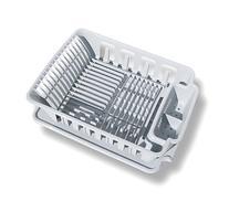 Sterilite 2-piece Large Sink Set Dish Rack Drainer, Gray