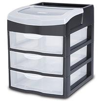 Sterilite 20639004 3 Drawer ClearView Desktop Unit - Pack of