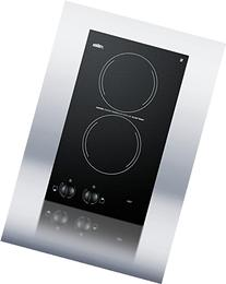 """Summit CR2110 12"""" Electric Cooktop with 2 Burners Voltage:"""