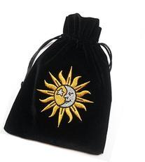 Sun/Moon Embroidered Luxury Tarot Bag Velvet 190 x 130mm