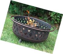 Sunnydaze 36 Inch Large Bronze Crossweave Fire Pit with