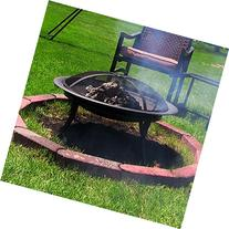 Sunnydaze 29 Inch Portable Folding Fire Pit with Carrying
