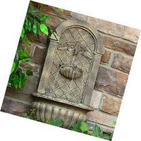 Sunnydaze Venetian Outdoor Wall Fountain, Florentine Stone,