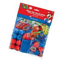 Amscan Super Mario Brothers Birthday Party Mega Mix Value