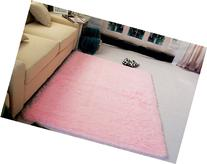 Super Soft Modern Shag Area Silky Smooth Rugs Living Room