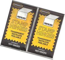 Supersafe Stamp Hinges TWO Packs of 1000 -- Total of 2000