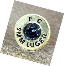 Swarovski 9MM Bullet Casing Tie Pin Brass Federal Critical