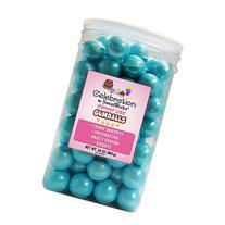 Sweetworks Gumballs Jar, 34 oz, Shimmer Powder Blue