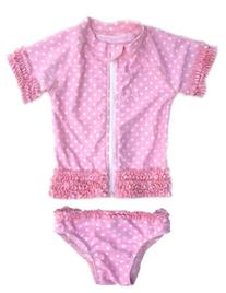 Sassy Surfer - Pink UV Sun Protective Rash Guard Swimsuit