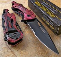 TAC-FORCE Speedster Assisted Opening High Carbon PINK CAMO