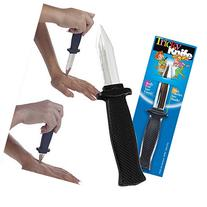 TWO PACK Trick Plastic Fake Spring Retractable Knife Set  -