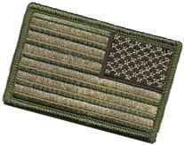 Tactical Reverse USA Flag Patch - Multitan