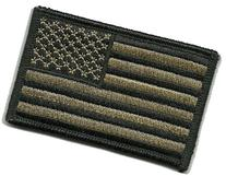 Tactical USA Flag Patch - Coyote Tan