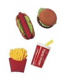 Take-Apart' Fast Food Erasers