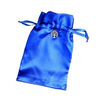 Tarot Rune Gift Bag with Tree of Life Charm, Royal Blue