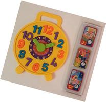 Teach Time Puzzle Clock with 8 Tell the Time Cards,