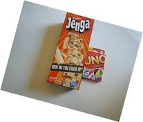 Test your stacking with Classic Jenga and go wild with Uno