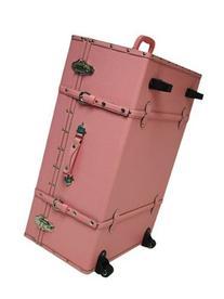The Designer Wheeled Trunk - Baby Pink - Large