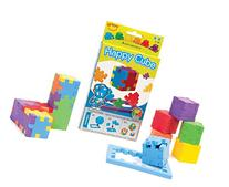 The Happy Cube - Set of 6 Foam Puzzle Cubes - Ages 5