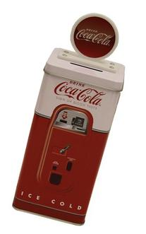 The Tin Box Company Coca Cola Tall Beverage Machine Bank