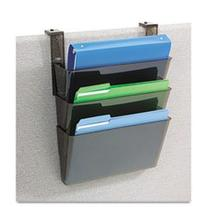 - Three-Pocket File Partition Set with Brackets, Letter,