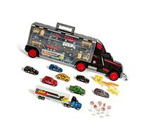 Thunder Wheels Car Carrier With 16 die cast Cars 2 Trailers